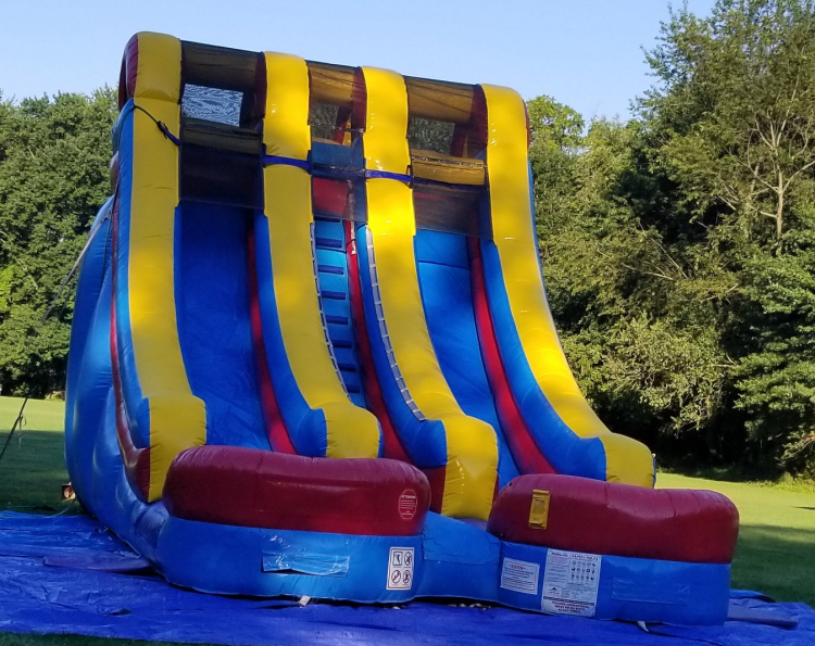 18' Retro Double Lane Wet/Dry Slide